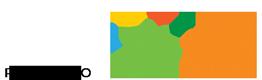 Logotipo do Criança e Natureza, nas cores verde e laranja.