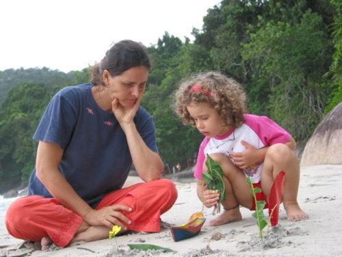 Teresa Cristina Magro com a filha Sophie