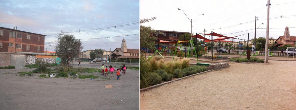 0_Plaza Esperanza, San Bernardo_Antes y Después_1 año y medio después