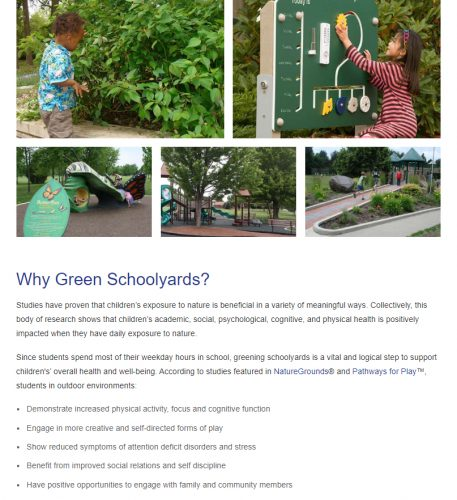 why green schoolyards